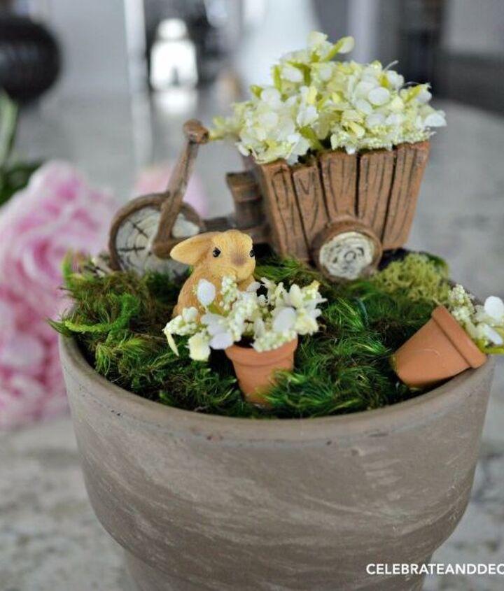 making a windowsill fairy garden, crafts, gardening