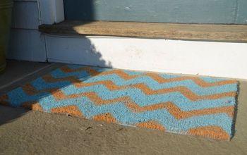 Simple Stenciled Doormat