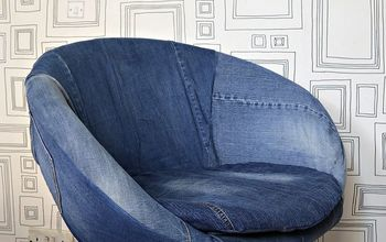 Easy & Free Chair Upholster Using Your Old Jeans.