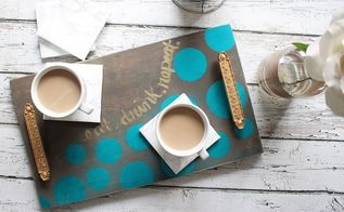 diy coffee serving tray and marble coaster tutorial, crafts, how to, repurposing upcycling