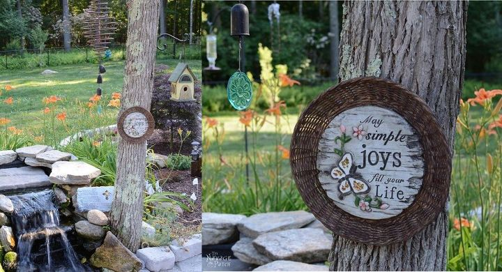 diy garden decor, crafts, landscape, repurposing upcycling