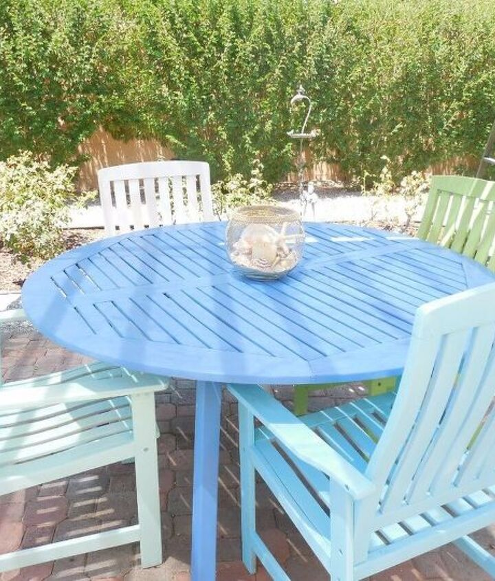 patio dining makeover, how to, outdoor furniture, outdoor living, painted furniture