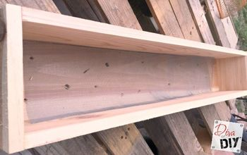 quick and easy cedar window box, curb appeal, gardening, how to, woodworking projects