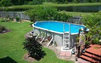 a pool deck build, decks, home improvement, pool designs, woodworking projects