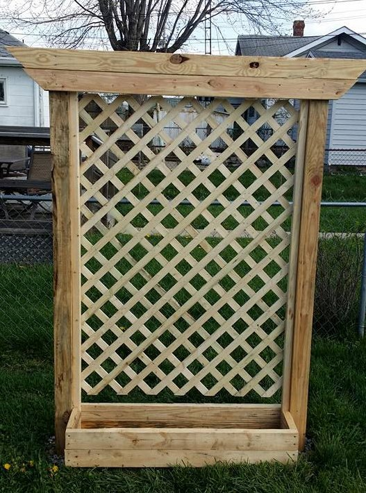 Building A Planter Box With A Trellis Hometalk