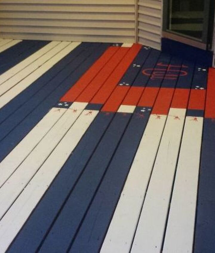jazzed up front porch , outdoor living, painting, porches