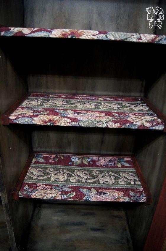 vintage hutch makeover, painted furniture