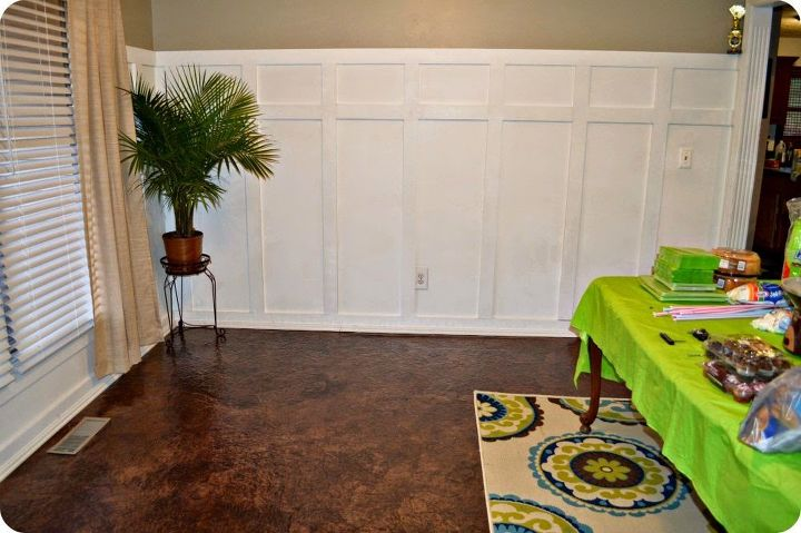 s here s how to totally transform your old floors on the cheap, flooring, how to, Give your old floor a paper bag makeover