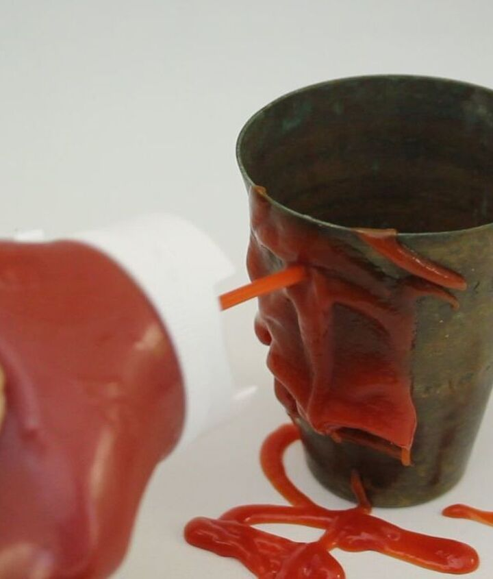 ketchup brass polish, cleaning tips, home decor, how to