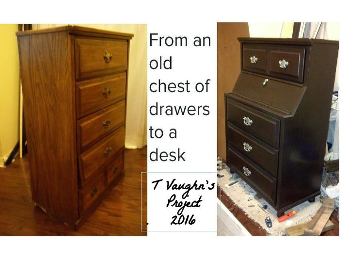 Fabulous Old Chest of Drawer Recreated Into a Secretary Desk | Hometalk SZ15