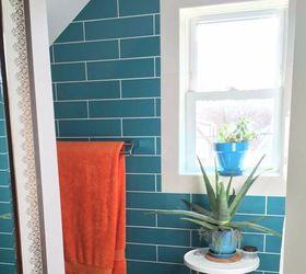Attractive Bright Turquoise Bathroom, Bathroom Ideas, Home Decor