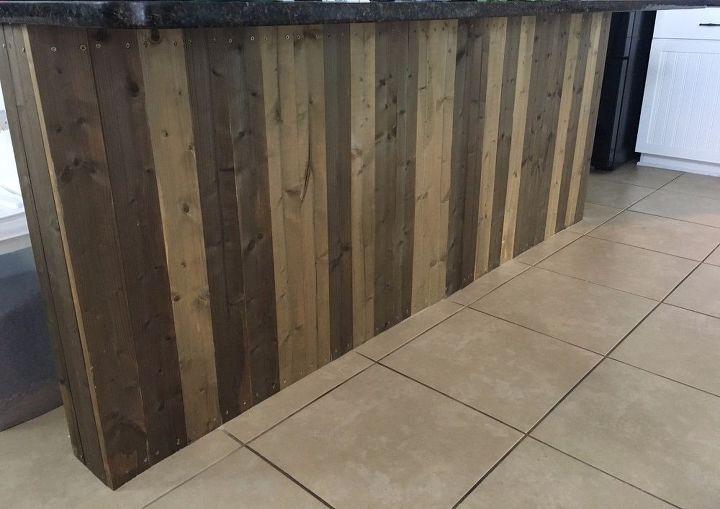 Kitchen Island Makeover-DIY Barn Wood! | Hometalk