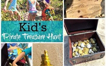 kid s pirate treasure hunt, crafts, outdoor living