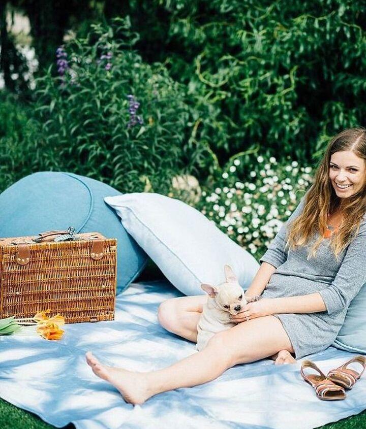 diy shibori inspired picnic blanket, crafts, how to