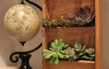 DIY Wooden Letter Rack for Succulents