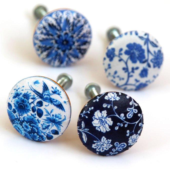 5 minute designer cabinet knobs, crafts, decoupage, kitchen cabinets, kitchen design