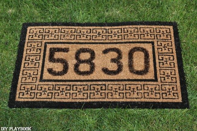 10 minute diy doormat, crafts, how to, outdoor living