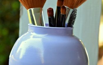 how to make a marbelized makeup brush holder  hometalk