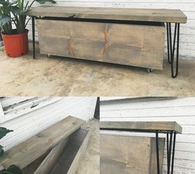 Outdoor Hairpin Leg Bench And Storage, How To, Outdoor Furniture, Rustic  Furniture,