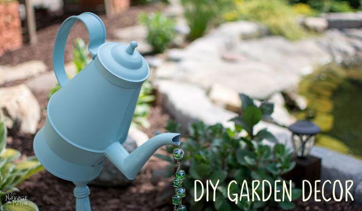 teapot coffee pot garden decor tutorial, crafts, diy, gardening, how to