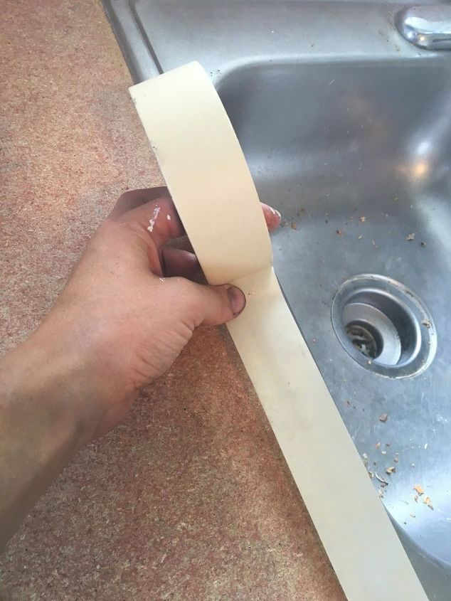 remodeled laminate countertop to look like stone, chalkboard paint, countertops, home improvement, how to, kitchen design, painting