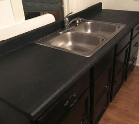 Remodeled Laminate Countertop To Look Like Stone, Chalkboard Paint,  Countertops, Home Improvement,
