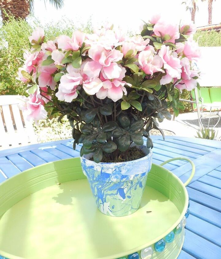 nil polish flowerpot, crafts, how to, painting