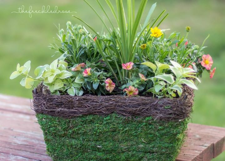 hanging basket how to, container gardening, gardening, how to