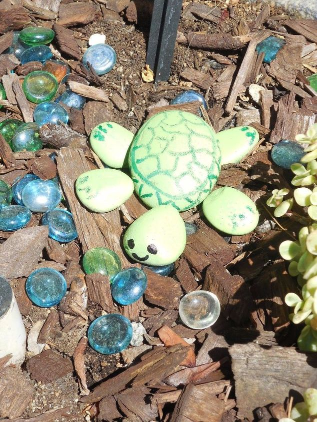 rock turtle, crafts, how to, landscape