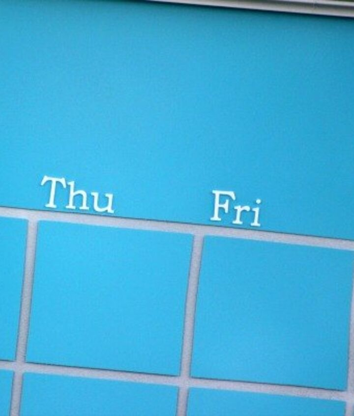 Make A Dry Erase Calendar From An Old Picture Frame Hometalk