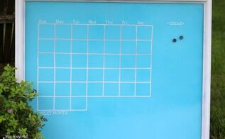 diy dry erase magnetic calendar from old picture frame, crafts, how to, organizing, repurposing upcycling, wall decor