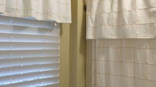 Matching Window Valance Using The Same Technique As Shower Curtain