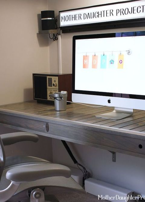 diy floating desk diy home. Diy Floating Desk Home. Build, Home Office, Painted  Furniture, O