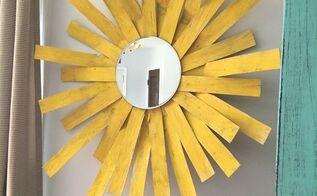 sunshine mirror wall decor, crafts, repurposing upcycling, wall decor