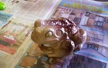 my poor frogs, crafts, painting