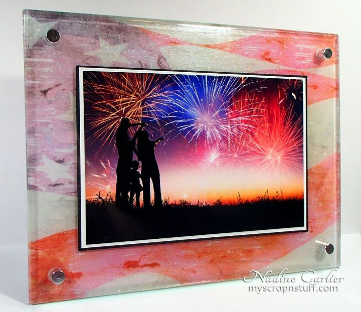photo transfers onto an acrylic or glass frame, crafts, how to, patriotic decor ideas, wall decor