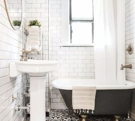 All White Bathrooms Ideas Part - 50: Before After The Little Black White Bathroom, Bathroom Ideas
