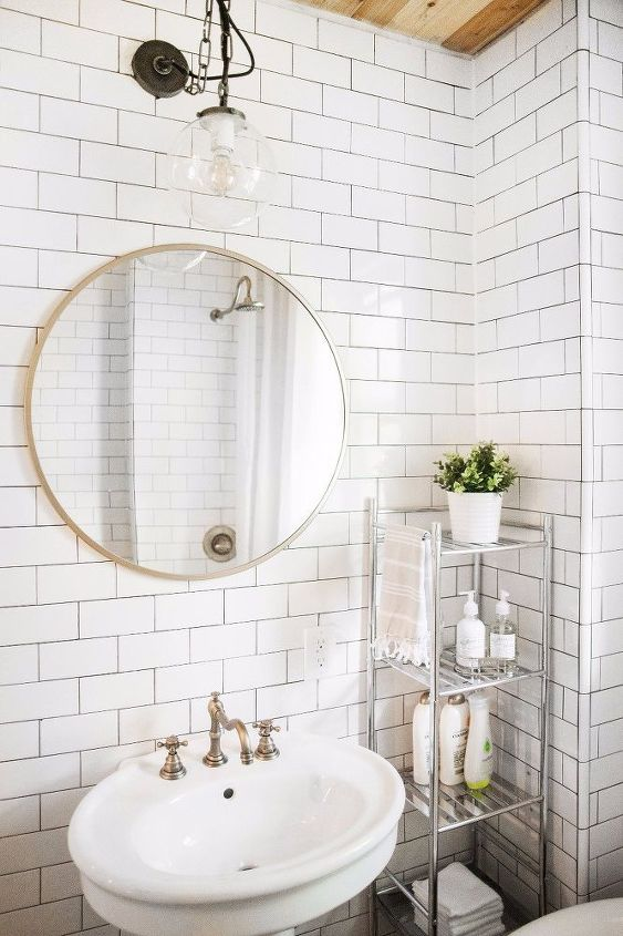 before after the little black white bathroom, bathroom ideas