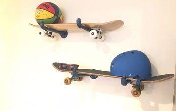 DIY Skateboard Wall Storage