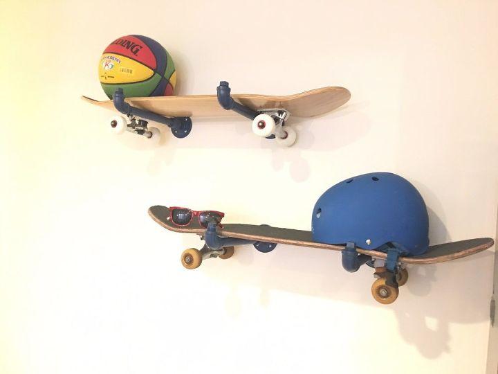 skateboard storage, how to, shelving ideas