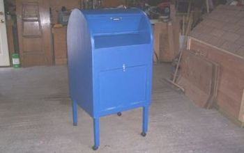 personal mailbox for the students, painted furniture, woodworking projects