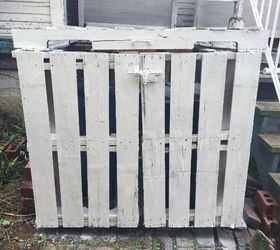 Outdoor Garbage Can Storage, Animals, How To, Outdoor Living, Painted  Furniture,