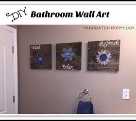 diy bathroom wall art string art to add a pop of color hometalk rh hometalk com framed art for bathroom walls art for bedroom walls