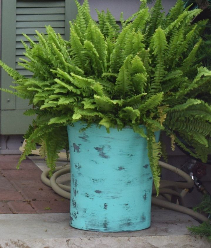 s 10 top trash can hacks of all time which one will you try , repurposing upcycling, storage ideas, Make chic planters to flank your front door