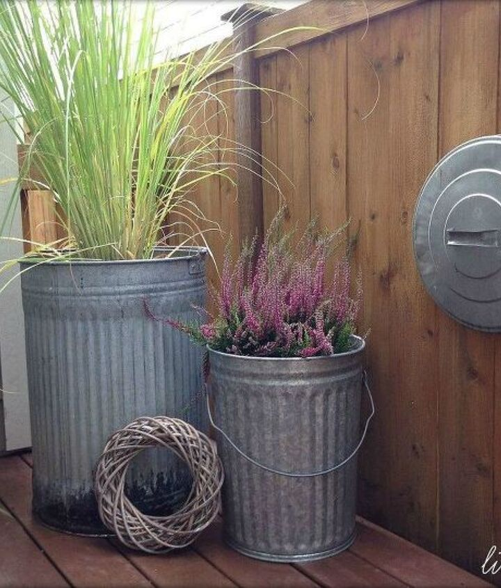 s 10 top trash can hacks of all time which one will you try , repurposing upcycling, storage ideas, Or make huge standing planters for your porch