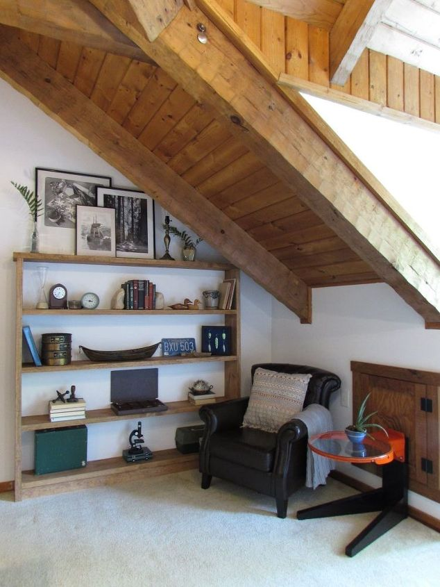modern rustic home office, home decor, home office, repurposing upcycling, rustic furniture