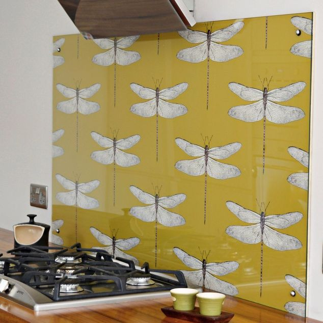 DIY Splashback (Backsplash) With Wallpaper | Hometalk