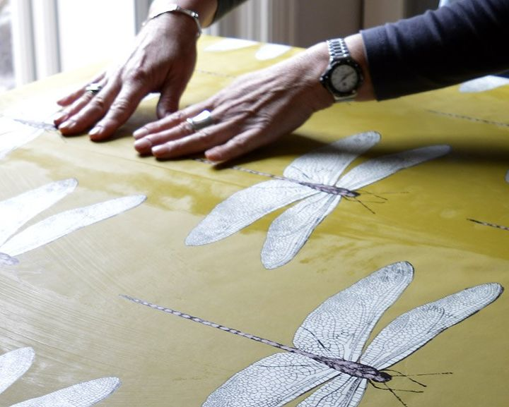diy splashback with wallpaper, kitchen backsplash, kitchen design, wall decor