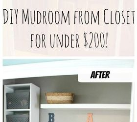 How We Turned A Closet Into A Mudroom For Under 200 , Closet, Foyer,