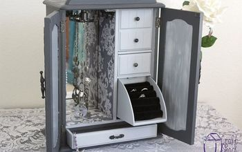 jewelry cabinet makeover, painted furniture